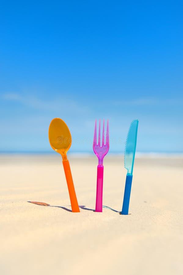 Restaurant bij het strand royalty-vrije stock afbeeldingen