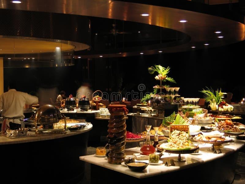 Restaurant bij nacht-1189 royalty-vrije stock afbeelding