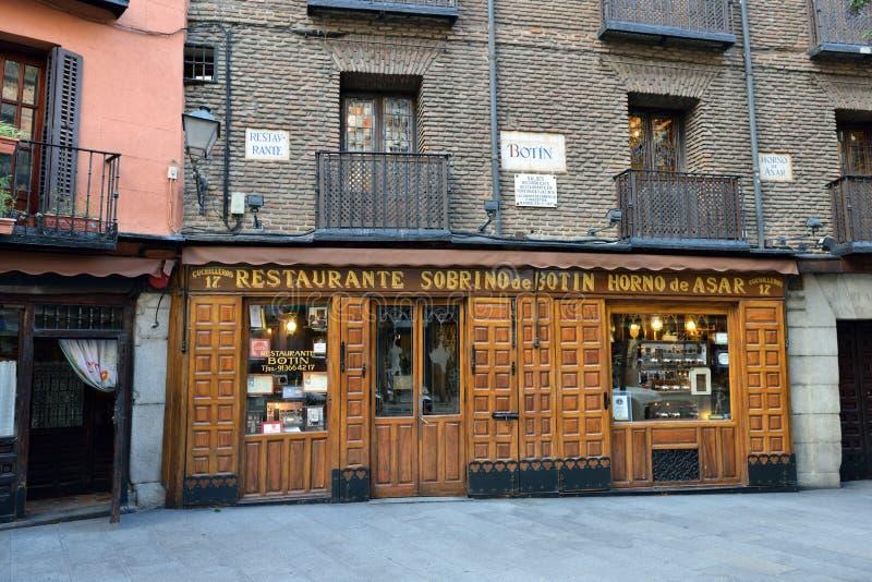 Restaurant Botin stock images