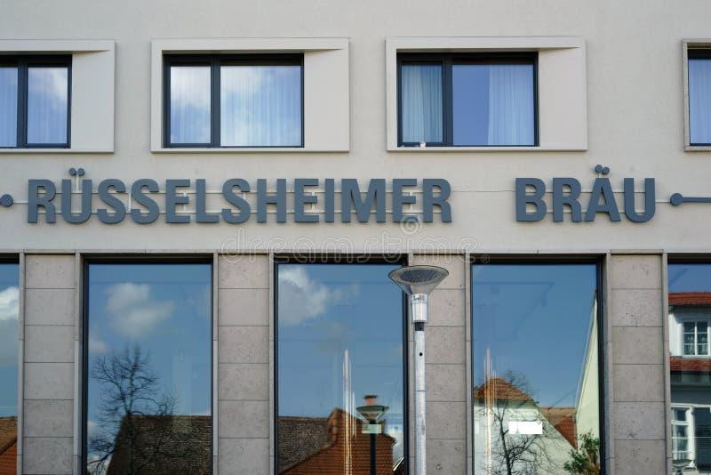 Restaurant-Brauerei Ruesselsheim lizenzfreies stockfoto