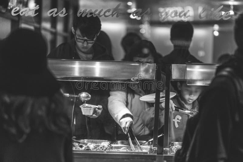 Restaurant buffet stock images