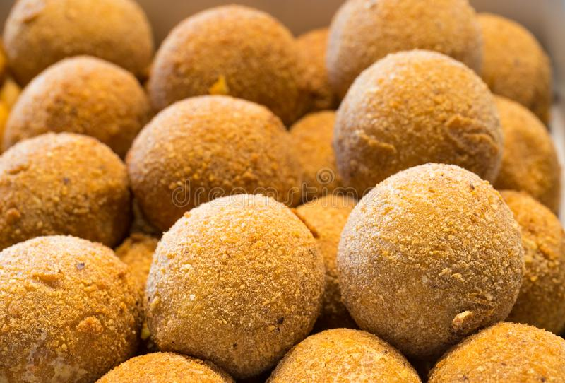 Restaurant buffet, croquettes, fast food, catering business stock photo