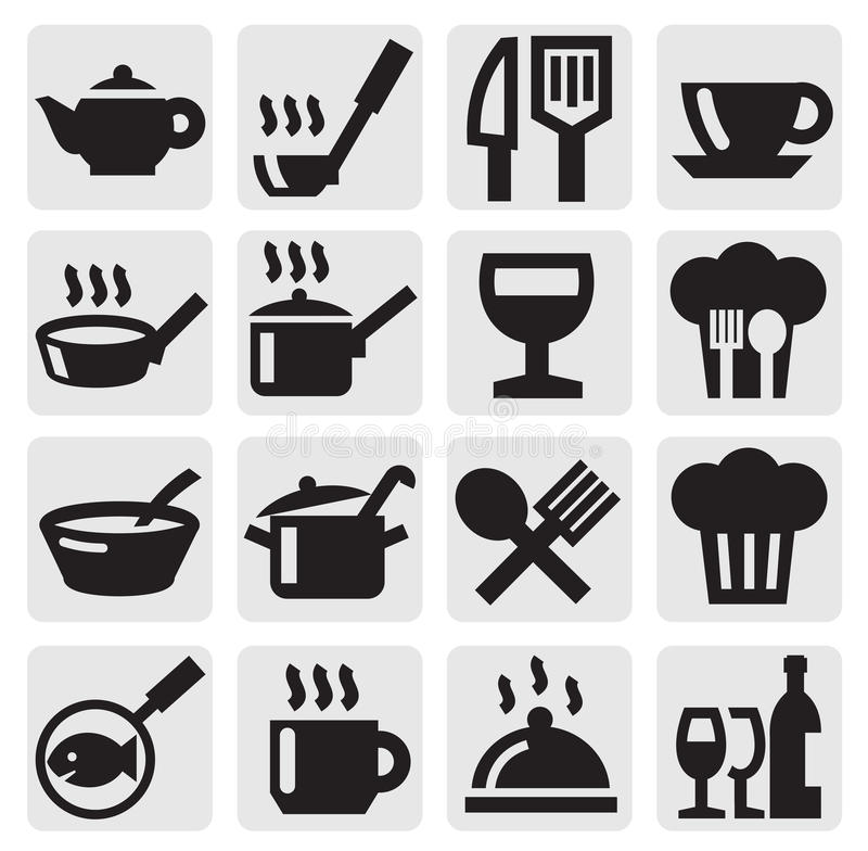 Restaurant, cafe and bar icons vector illustration