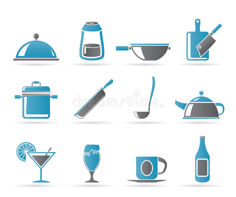 Download Restaurant, Cafe, Food And Drink Icons Stock Vector - Image: 19218671
