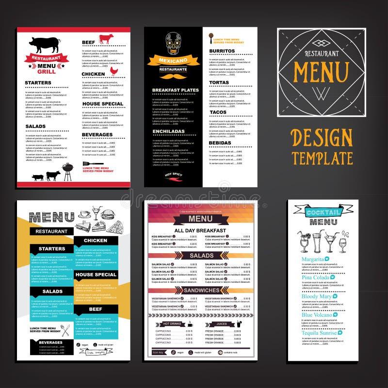 Restaurant cafe menu, template design. Food flyer. royalty free illustration