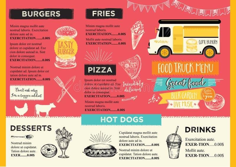Restaurant cafe menu, template design. vector illustration