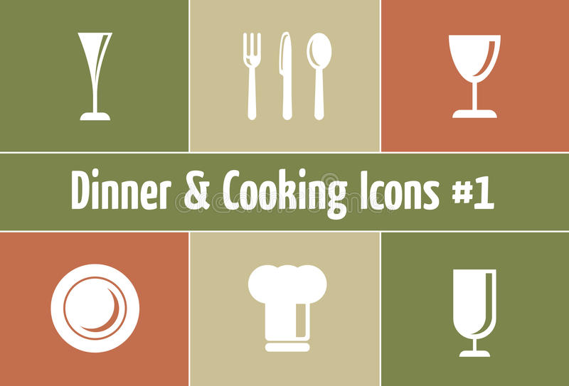 Restaurant and Catering Graphics. A Set of Restaurant and Catering Icons and Symbols stock illustration