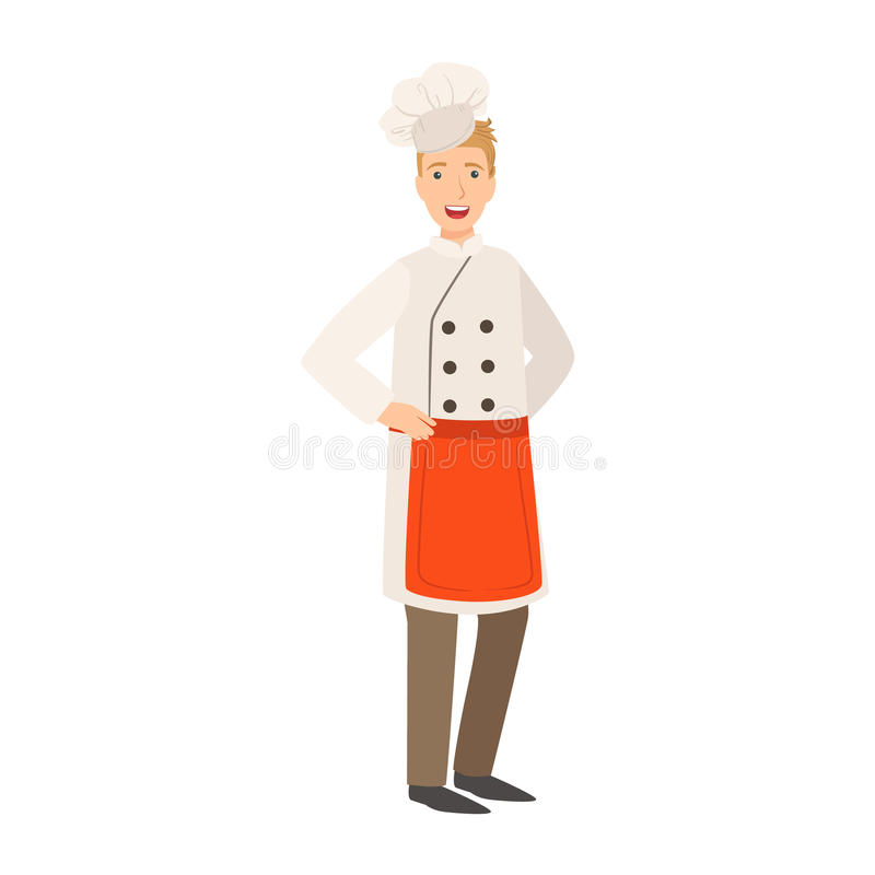 Restaurant Chef Cook, Part Of Happy People And Their Professions Collection Of Vector Characters. Professional Person And Job Attributes And Outfit Cartoon royalty free illustration