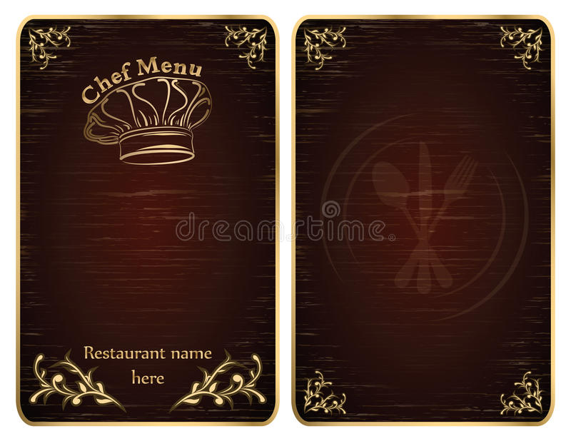 Download Restaurant Chef Menu Cover Or Board Vector - Gold Stock Vector - Image: 25190177