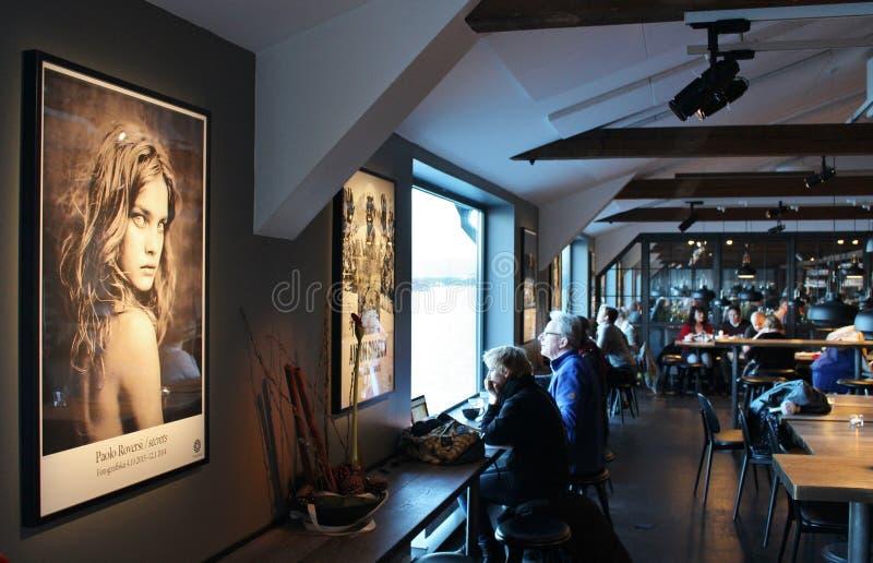 Restaurant chez Fotografiska à Stockholm images libres de droits