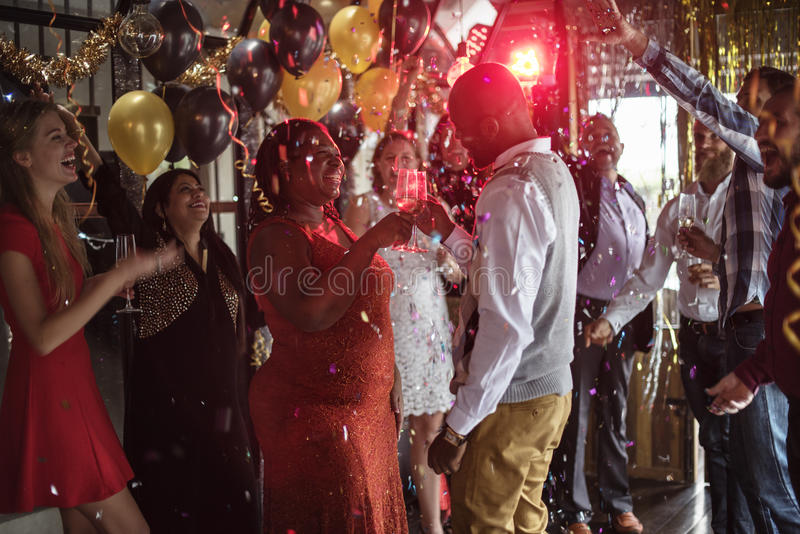 Restaurant Chilling Out Classy Lifestyle Reserved Concept. People Party Celebrates New Year Concept stock images