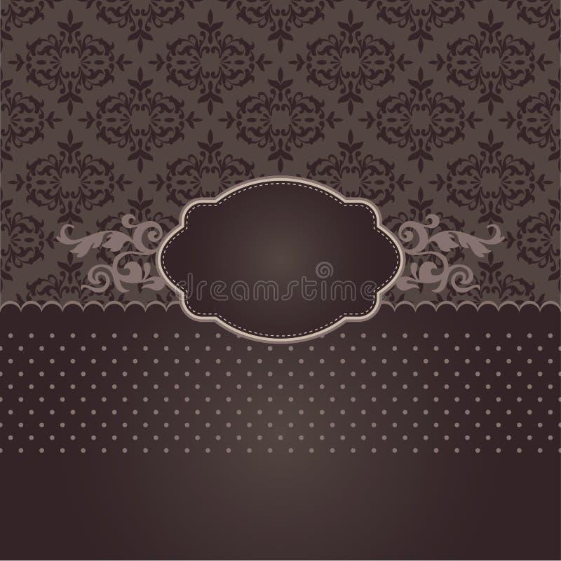 Restaurant or coffee menu in brown royalty free stock image
