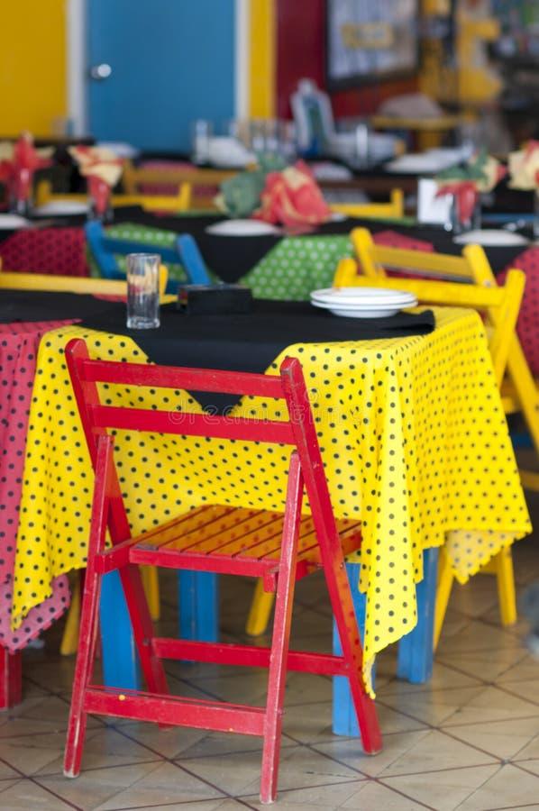 Restaurant coloré photographie stock libre de droits