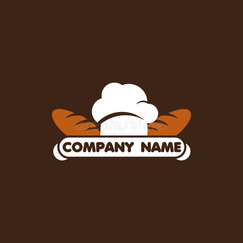 Restaurant Company商标传染媒介模板设计例证 向量例证
