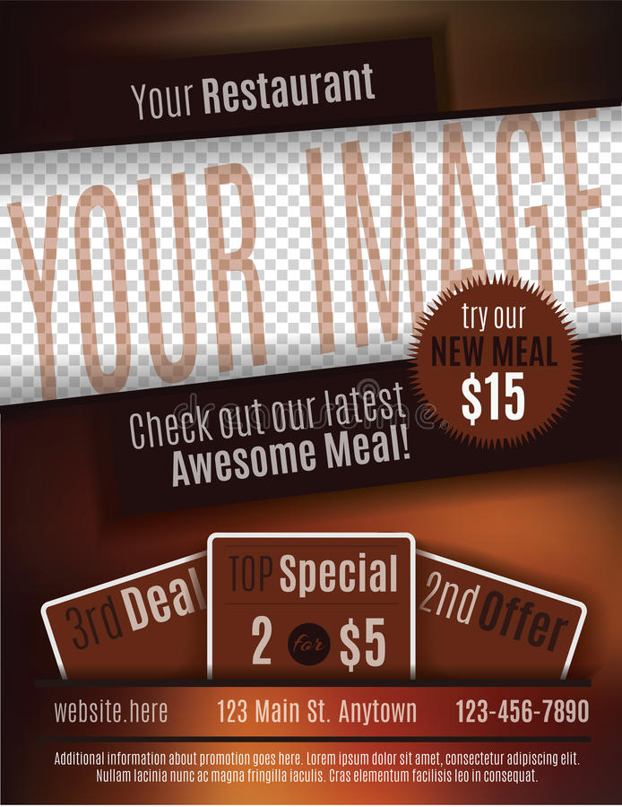 Restaurant Coupon Flyer Template Stock Vector Illustration Of