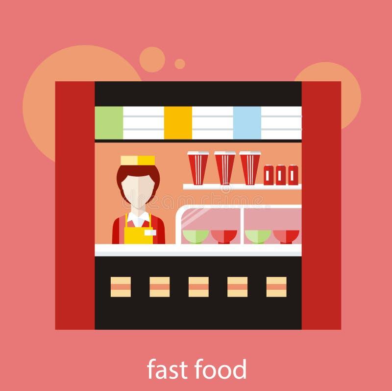 Restaurant d'aliments de préparation rapide illustration stock