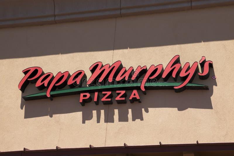Restaurant d'aliments de préparation rapide de la pizza de Papa Murphy image libre de droits