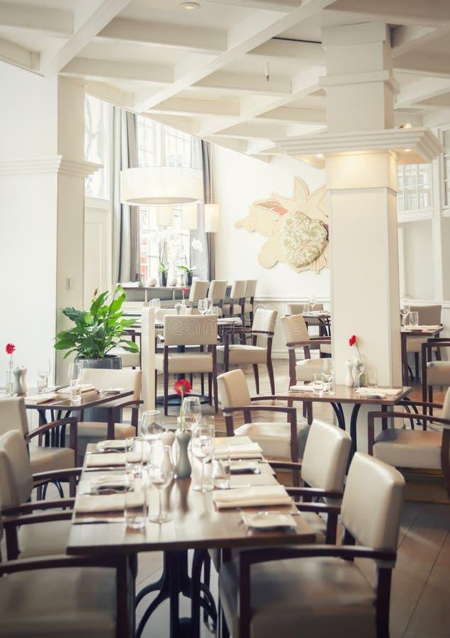Restaurant d'Amsterdam photo stock