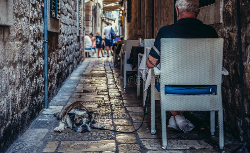 Restaurant dans Dubrovnik photo stock