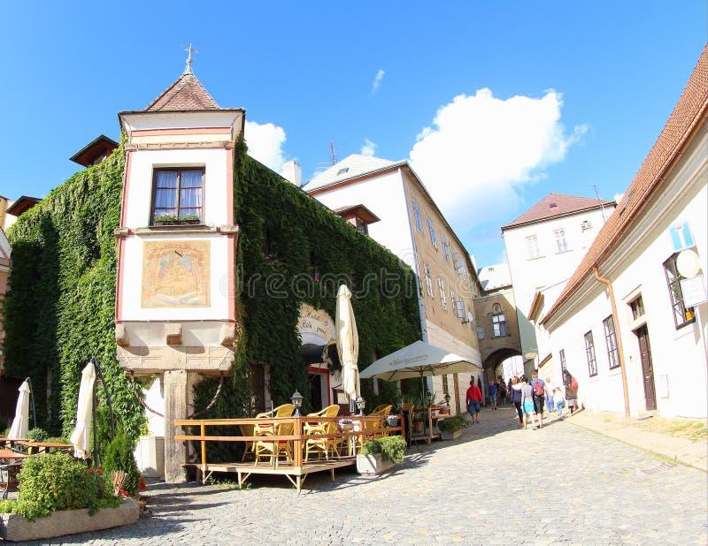Restaurant dans Jindrichuv Hradec photos stock