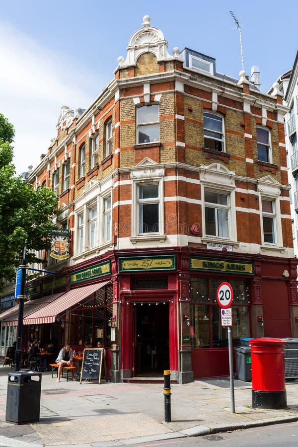 Restaurant dans un bâtiment historique dans Southwark, Londres, R-U photographie stock