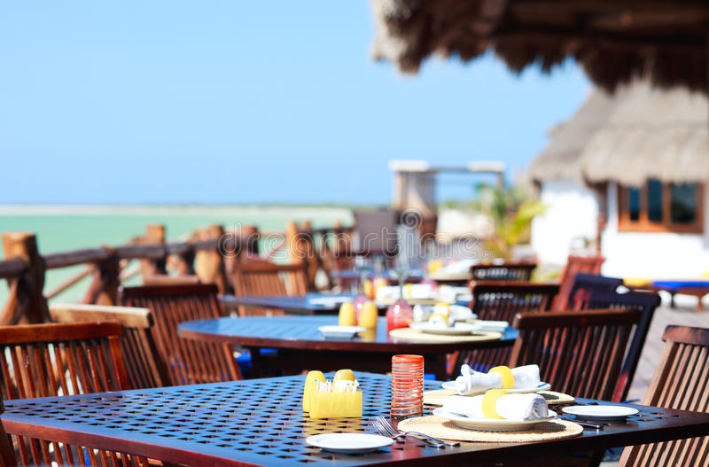 Restaurant de bord de la mer photographie stock libre de droits