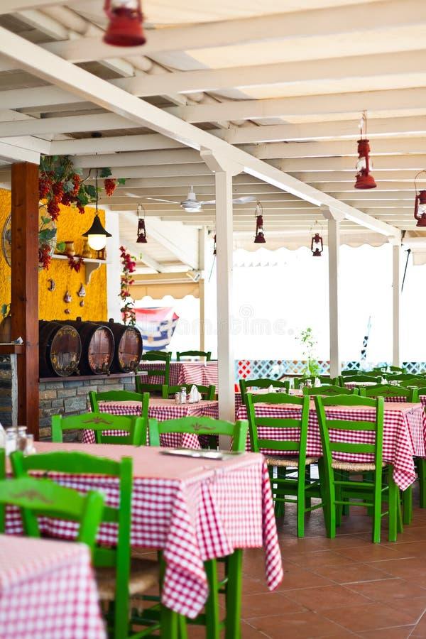 Restaurant de bord de la mer image libre de droits
