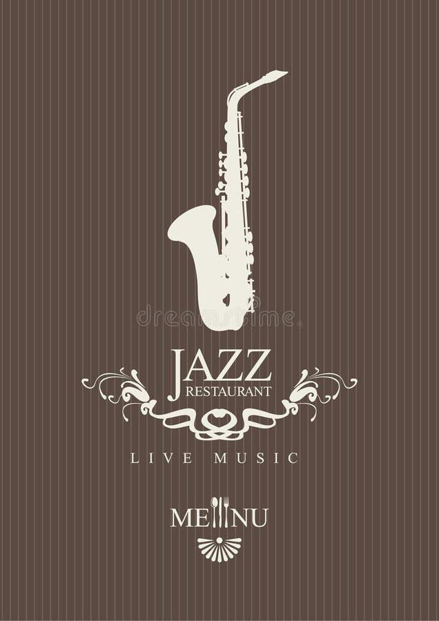 Restaurant de jazz illustration stock