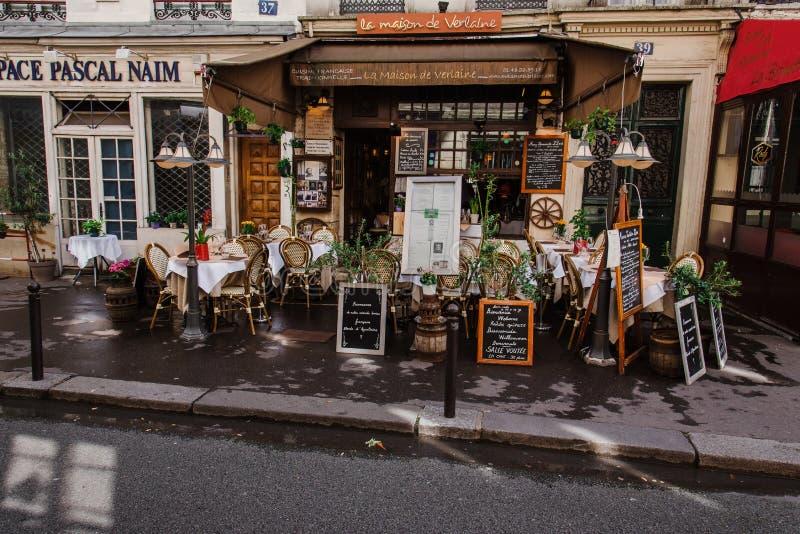 Restaurant de La Maison de Verlaine French photographie stock