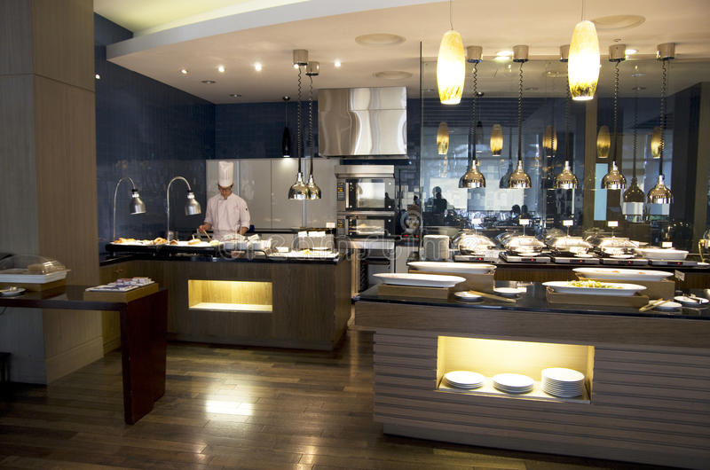 Restaurant de luxe de buffet photographie stock libre de droits