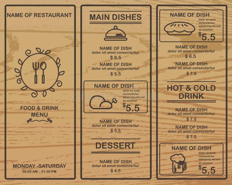 Restaurant de menu illustration libre de droits