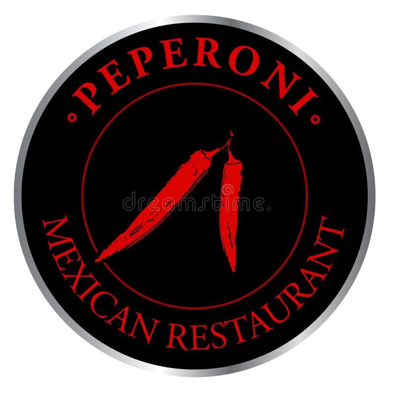 Restaurant de Mexicain de logo illustration de vecteur