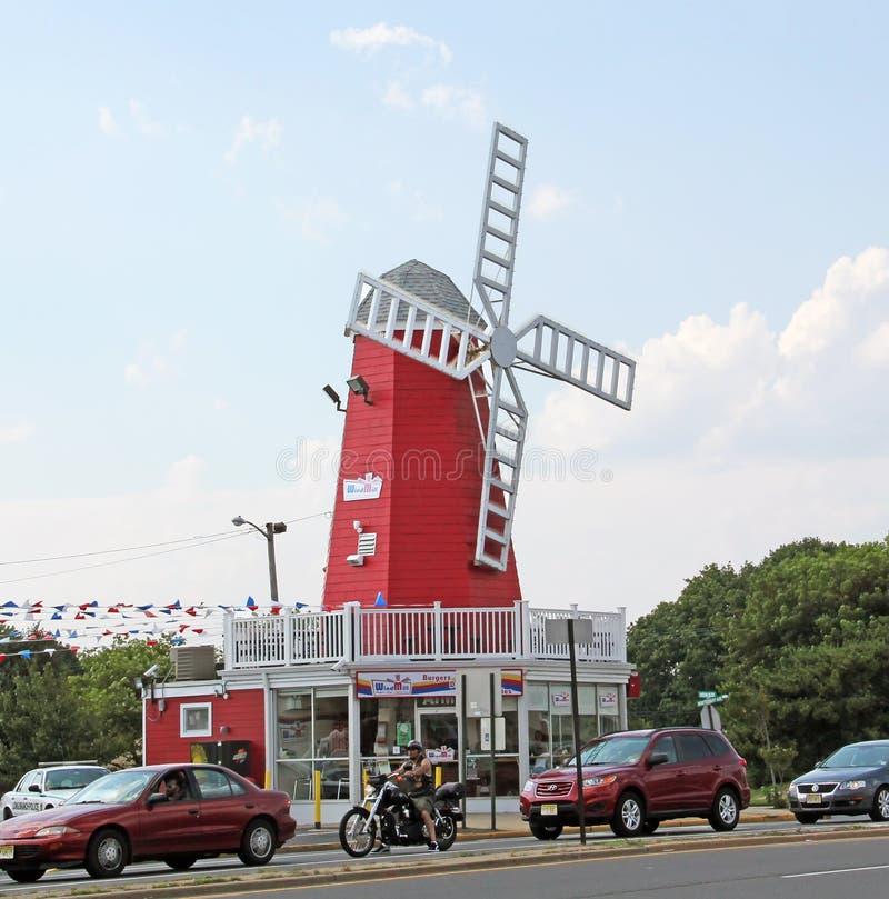 Restaurant de moulin à vent images stock