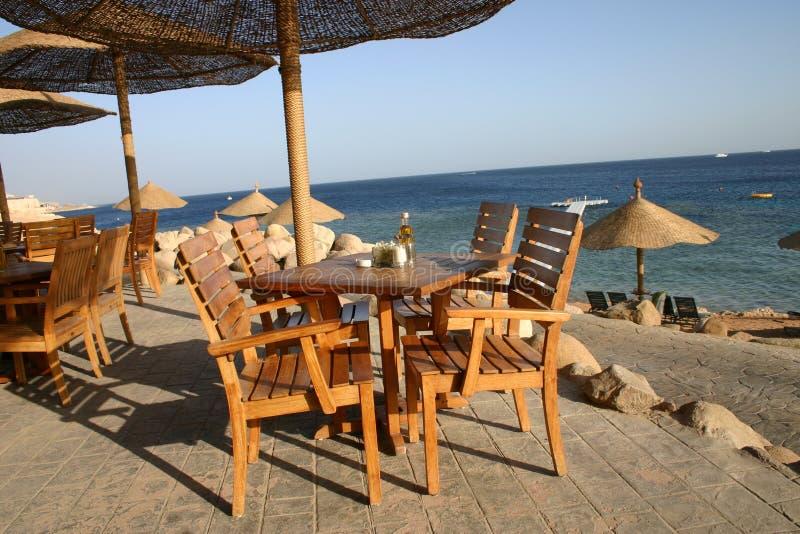 Restaurant de plage photo stock