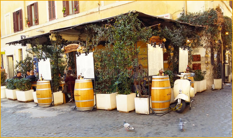 Restaurant de Rome photo stock
