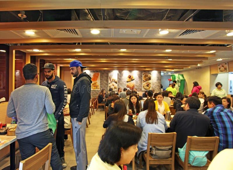 Restaurant de Tim Ho Wan en Hon Kong, le restaurant de michelin le meilleur marché dans le monde image libre de droits