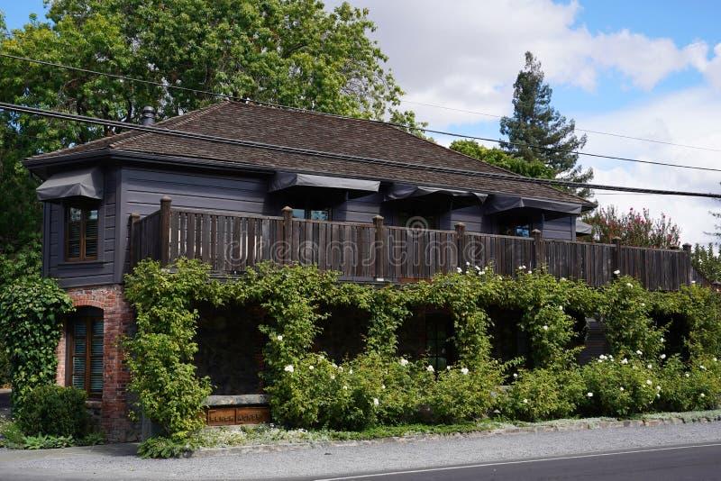 Restaurant de trois Michelin Stars la blanchisserie française dans Yountville, Napa Valley images libres de droits
