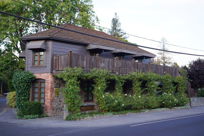 Restaurant de trois Michelin Stars la blanchisserie française dans Yountville, Napa Valley photographie stock