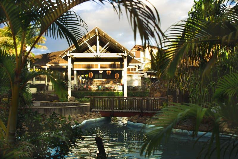 Restaurant die - Radisson Blu Fiji dineren stock afbeeldingen