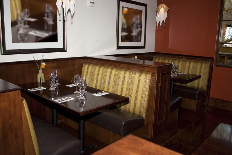 Restaurant Dining Booth Tables Stock Image Image 13106961
