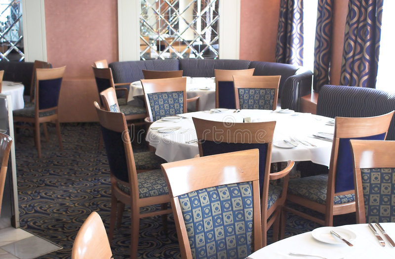 Download Restaurant dining room stock image. Image of plate, chair - 1717671
