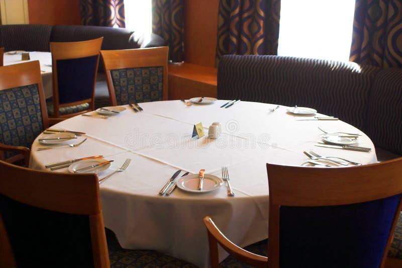 Restaurant dining room stock image