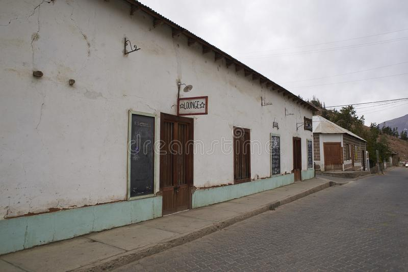 Restaurant in Elqui-Vallei royalty-vrije stock afbeeldingen