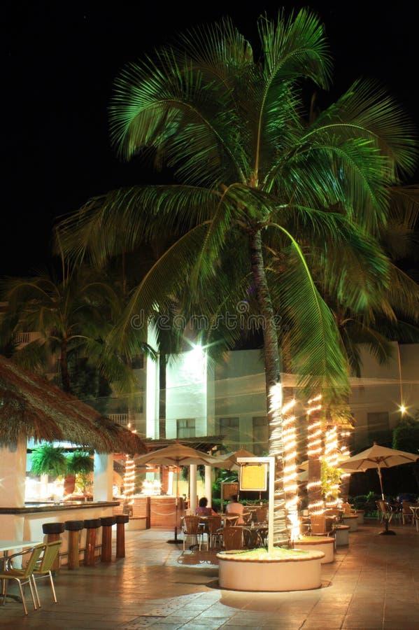 Restaurant extérieur dans l'hôtel photo libre de droits