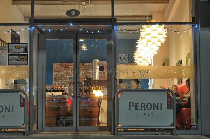 Restaurant Exterior design editorial stock image. Image of italian ...