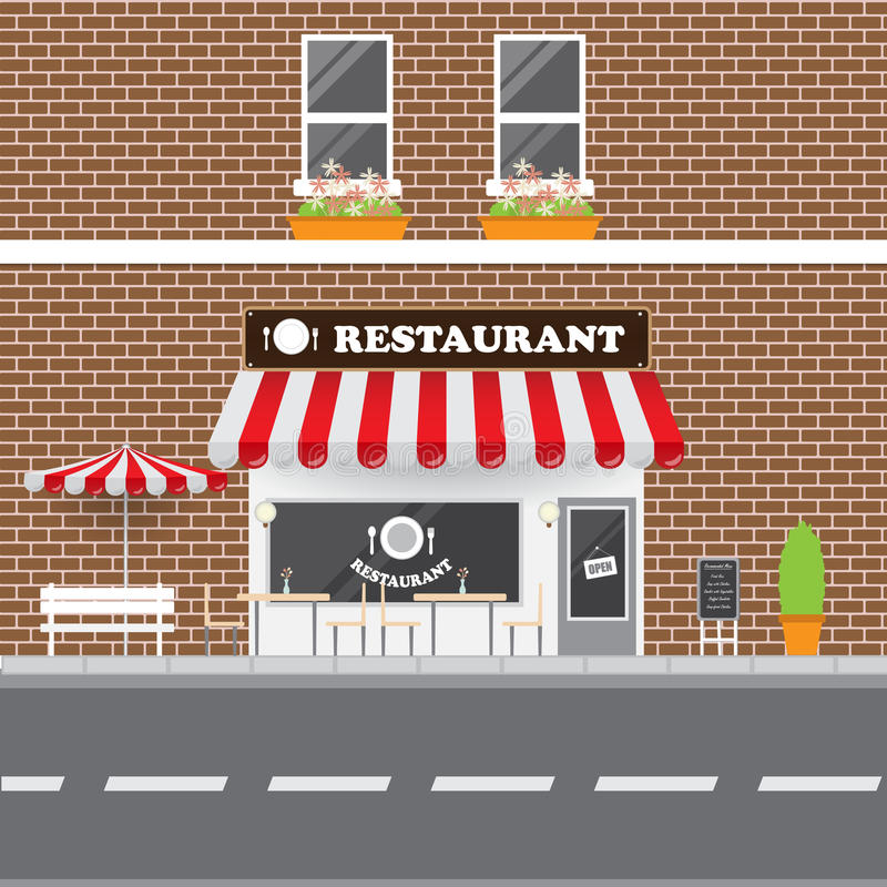 Restaurant Facade royalty free stock photo