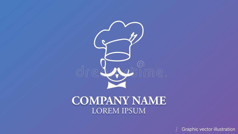 Modern conceptual logo usable in any field of business royalty free illustration