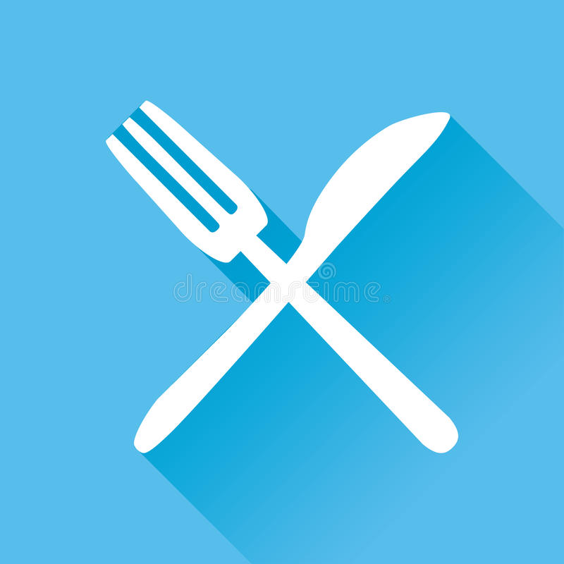 Restaurant Flat Icon stock illustration