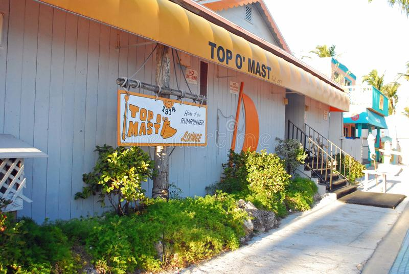 Restaurant on fort Myers beach Florida royalty free stock images