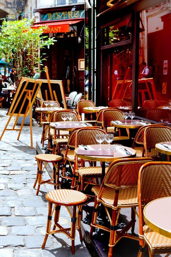 Restaurant français photographie stock
